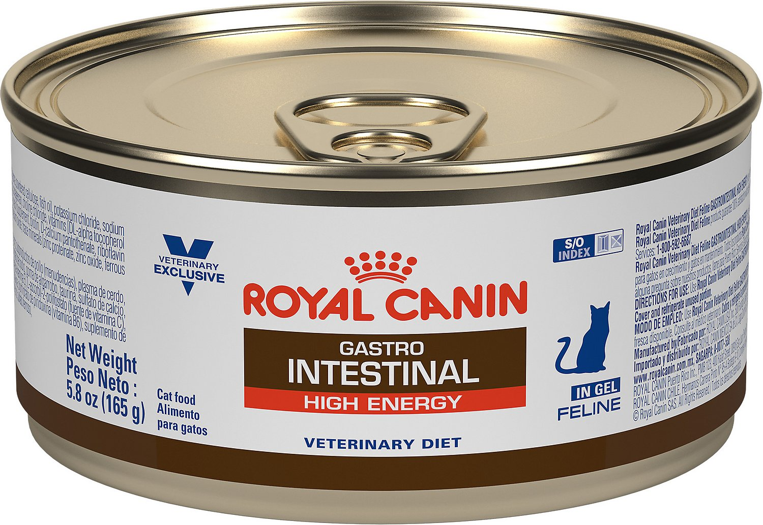 Royal Canin Veterinary Diet Gastrointestinal High Energy Canned Cat Food,  5 8-oz, case of 24