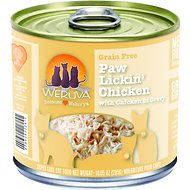 Weruva Paw Lickin' Chicken in Gravy Canned Cat Food, 10-oz, case of 12