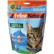 Feline Natural Chicken & Lamb Feast Raw Grain-Free Freeze-Dried Cat Food, 0.28-lb bag