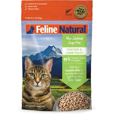 Feline Natural Chicken and Lamb Feast Raw Freeze-Dried Cat Food