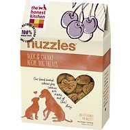 The Honest Kitchen Nuzzles Duck & Cherry Recipe Dog Treats, 16-oz bag