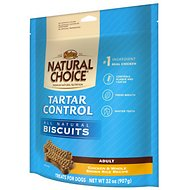Nutro Tartar Control Biscuits Adult Chicken & Whole Brown Rice Recipe Dog Treats, 32-oz bag