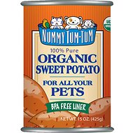 Nummy Tum-Tum Pure Organic Sweet Potato Canned Dog & Cat Food Supplement, 15-oz, case of 12
