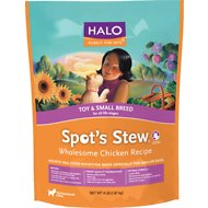 Halo Spot's Stew Wholesome Chicken Recipe Toy & Small Breed Dry Dog Food, 10-lb bag