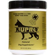 Nupro All Natural Dog Supplement, 30-oz canister, 30 scoops