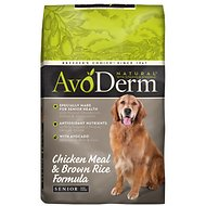 AvoDerm Natural Chicken Meal & Brown Rice Formula Senior Dry Dog Food, 26-lb bag