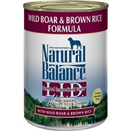 Natural Balance L.I.D. Limited Ingredient Diets Wild Boar & Brown Rice Formula Canned Dog Food, 13-oz, case of 12