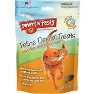 Smart n' Tasty Feline Dental Treats with Chicken Cat Treats, 3-oz bag