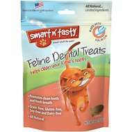 Smart n' Tasty Feline Dental Treats with Salmon Cat Treats, 3-oz Bag