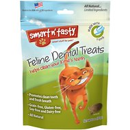 Smart n' Tasty Feline Dental Treats with Tuna Cat Treats, 3-oz Bag
