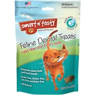 Smart n' Tasty Feline Dental Treats with Ocean Fish Cat Treats, 3-oz Bag