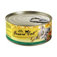 Fussie Cat Super Premium Chicken & Vegetables Formula in Gravy Canned Cat Food, 2.82-oz, case of 24
