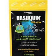 Nutramax Dasuquin with MSM Soft Chews Joint Health Small/Medium Dog Supplement, 84 count