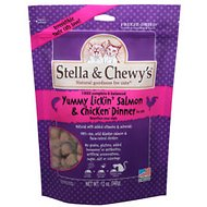 Stella & Chewy's Yummy Lickin' Salmon & Chicken Dinner Grain-Free Freeze-Dried Cat Food, 12-oz bag