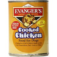 Evanger's Classic Recipes Cooked Chicken Canned Dog Food, 12.8-oz, case of 12