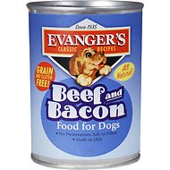 Evanger's Classic Recipes Beef & Bacon Canned Dog Food, 12.8-oz, case of 12