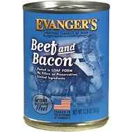 Evanger's Classic Recipes Beef & Bacon Grain-Free Canned Dog Food, 12.8-oz, case of 12