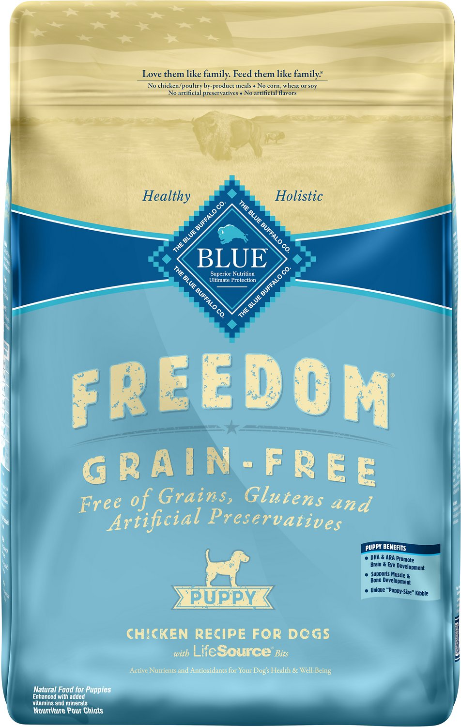 Blue buffalo freedom puppy chicken recipe grain free dry dog food blue buffalo freedom puppy chicken recipe grain free dry dog food 24 lb bag chewy forumfinder Image collections