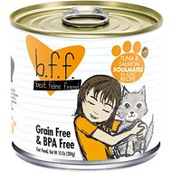 BFF Tuna & Salmon Soulmates with Tuna & Salmon in Aspic Canned Cat Food, 10-oz, tray of 12