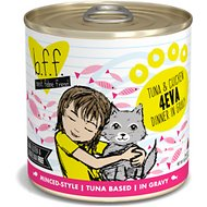 BFF Tuna & Chicken 4EVA Recipe in Gravy Grain-Free Canned Cat Food, 10-oz, tray of 12