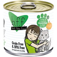 BFF Tuna & Pumpkin Valentine Recipe in Gravy Grain-Free Canned Cat Food, 10-oz, tray of 12