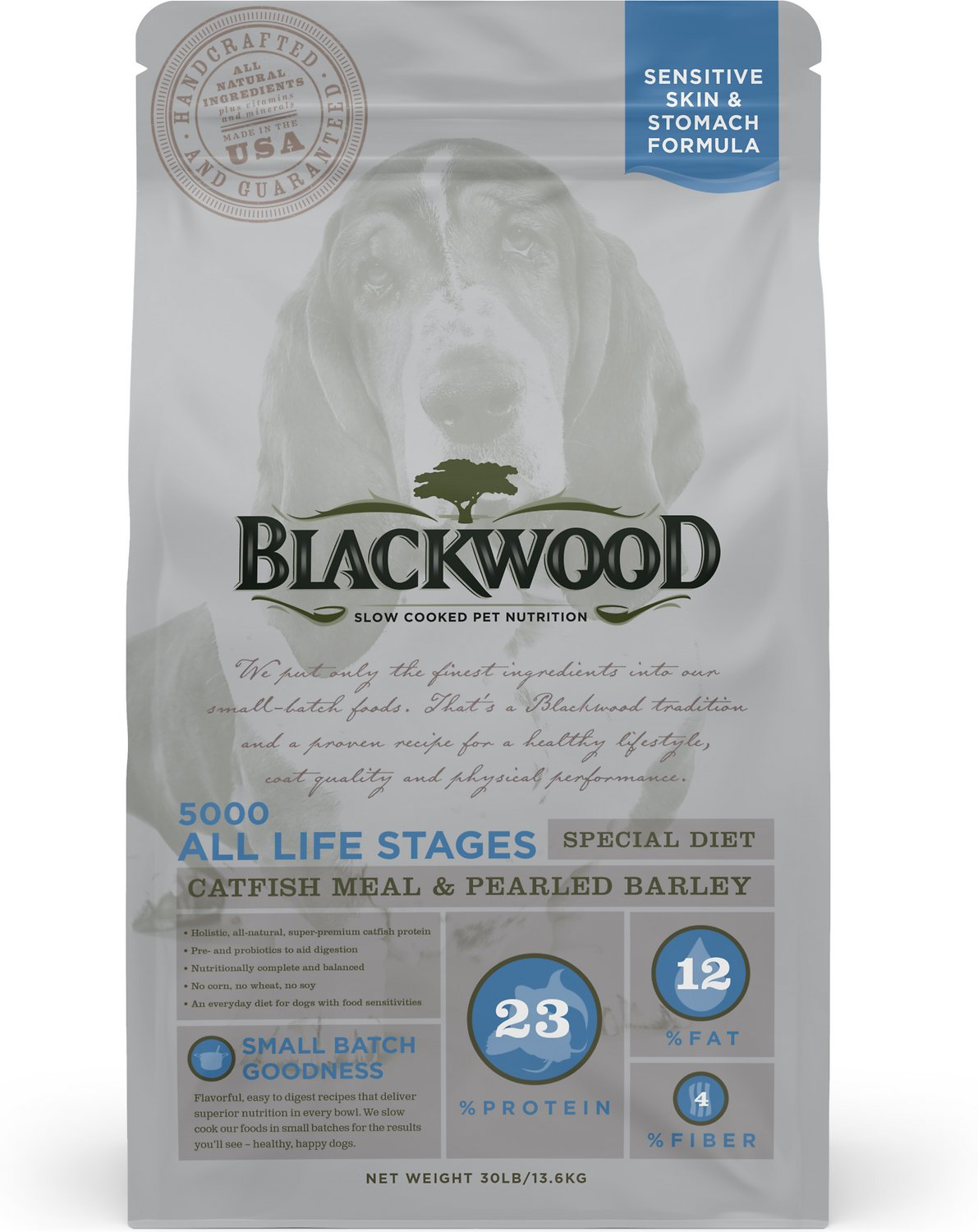 blackwood 5000 catfish meal pearled barley sensitive skin