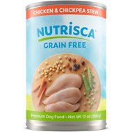 Nutrisca Grain-Free Chicken & Chickpea Stew Recipe Canned Dog Food, 13-oz, case of 12