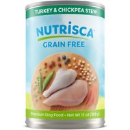 Nutrisca Grain-Free Turkey & Chickpea Stew Recipe Canned Dog Food, 13-oz, case of 12