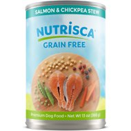Nutrisca Grain-Free Salmon & Chickpea Stew Recipe Canned Dog Food, 13-oz, case of 12
