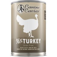 Canine Caviar 96% Turkey Grain-Free Canned Dog Food, 13-oz, case of 12