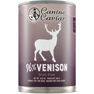 Canine Caviar 96% Venison Grain-Free Canned Dog Food, 13-oz, case of 12