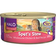 Halo Spot's Stew Wholesome Chicken & Beef Recipe Grain-Free Canned Cat Food, 5.5-oz, case of 12