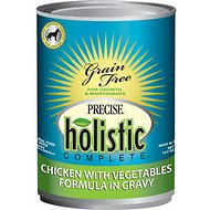 Precise Holistic Complete Chicken with Vegetables Formula in Gravy Grain-Free Canned Dog Food, 13.2-oz, case of 12