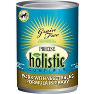 Precise Holistic Complete Pork with Vegetables Formula in Gravy Grain-Free Canned Dog Food, 13.2-oz, case of 12