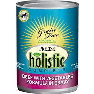 Precise Holistic Complete Beef with Vegetables Formula in Gravy Grain-Free Canned Dog Food, 13.2-oz, case of 12