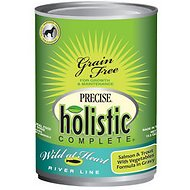"Precise Holistic Complete Salmon & Trout ""Wild at Heart River Line"" Grain-Free Canned Dog Food, 13.2-oz, case of 12"