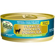 Precise Holistic Complete Flaked Chicken Formula Grain-Free Canned Cat Food, 5.5-oz, case of 24