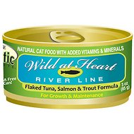 "Precise Holistic Complete Tuna, Salmon & Trout ""Wild at Heart River Line"" Canned Cat Food, 5.5-oz, case of 24"