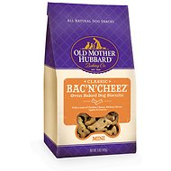 Old Mother Hubbard Classic Bac'N'Cheez Biscuits Baked Dog Treats, Mini, 5-oz bag