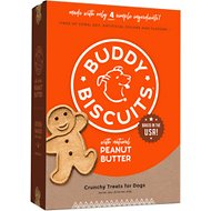 Buddy Biscuits Original Oven Baked with Peanut Butter Dog Treats, 16-oz bag