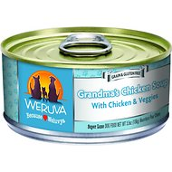 Weruva Grandma's Chicken Soup with Chicken & Veggies Grain-Free Canned Dog Food, 5.5-oz, case of 24