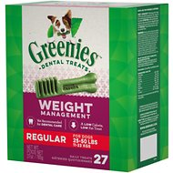 Greenies Weight Management Regular Dental Dog Treats, 27 count