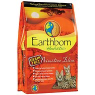 Earthborn Holistic Primitive Feline Grain-Free Natural Dry Cat & Kitten Food, 5-lb bag