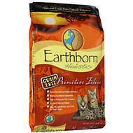 Earthborn Holistic Primitive Feline Grain-Free Natural Dry Cat & Kitten Food, 14-lb bag