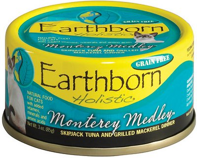 8. Earthborn Holistic Monterey Medley Grain-Free Natural Canned Cat & Kitten Food