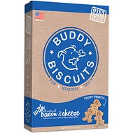 Buddy Biscuits  Oven Baked Teeny Treats with Bacon & Cheese, 8-oz box