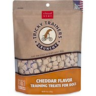 Cloud Star Crunchy Tricky Trainers Cheddar Flavor Dog Treats, 8-oz bag