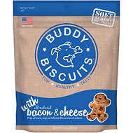 Buddy Biscuits Original Soft & Chewy with Bacon & Cheese Dog Treats, 6-oz bag