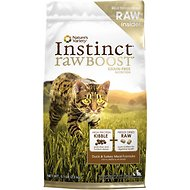 Nature's Variety Instinct Raw Boost Grain-Free Duck & Turkey Meal Formula Dry Cat Food, 5.1-lb bag
