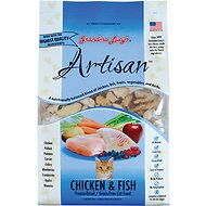 Grandma Lucy's Artisan Grain-Free Chicken & Fish Freeze-Dried Cat Food, 3-lb bag